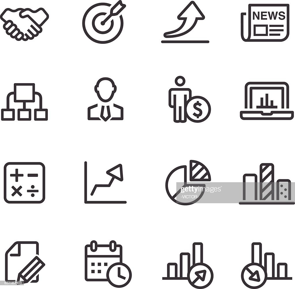 Business Icon Set - Line Series