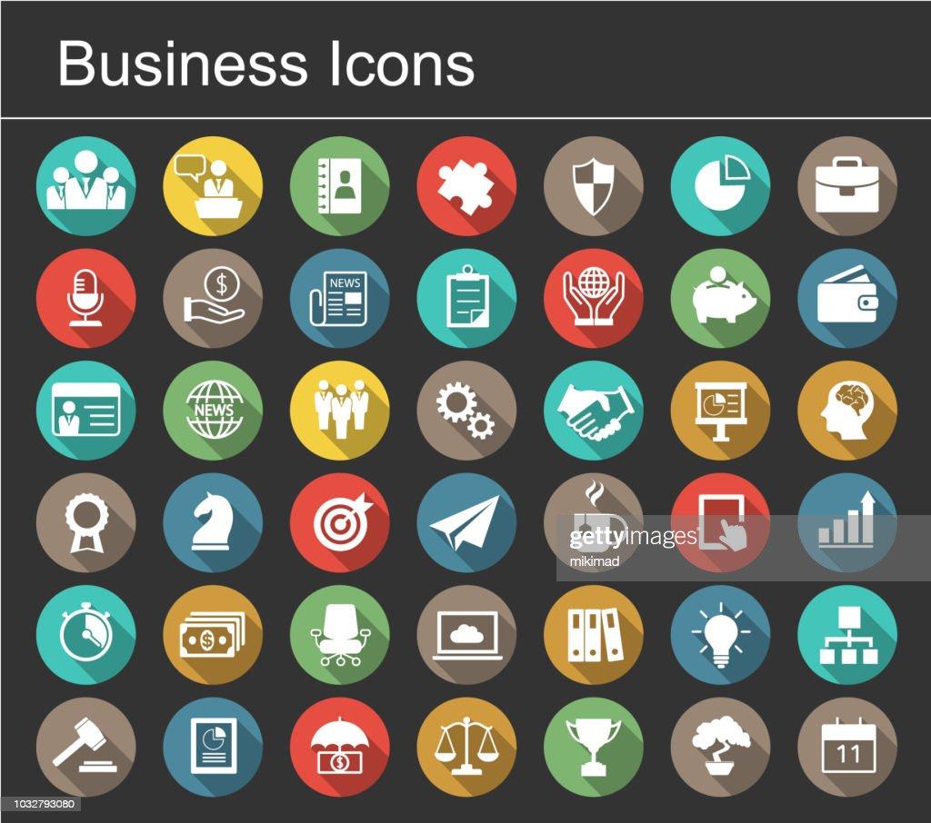 Business icon set : Stock-Illustration