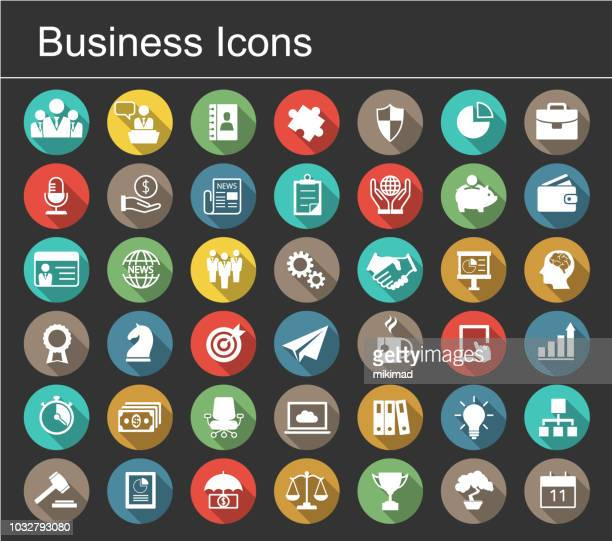 business icon set - professional occupation stock illustrations