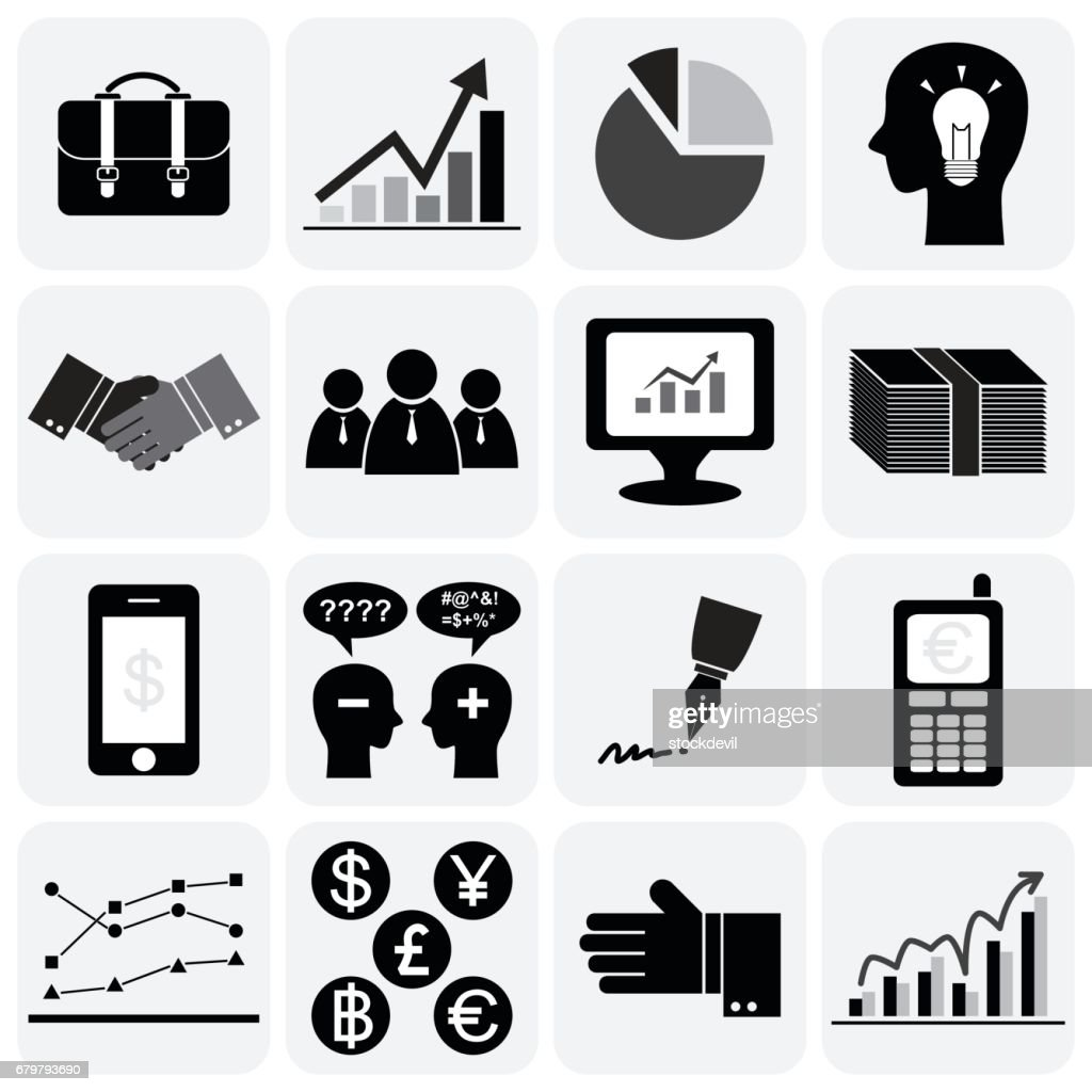 Business icon set (Flat design)