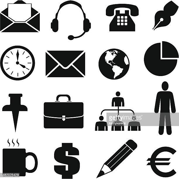 stockillustraties, clipart, cartoons en iconen met business icons and design elements - e mail