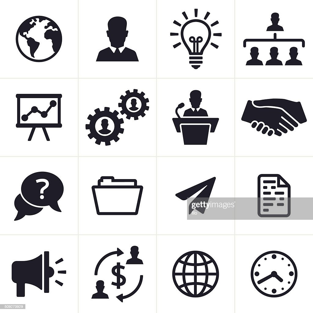 Business Icons And Symbols Vector Art Getty Images