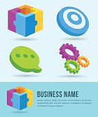 Business Icons, Banner, Design Element, Marketing