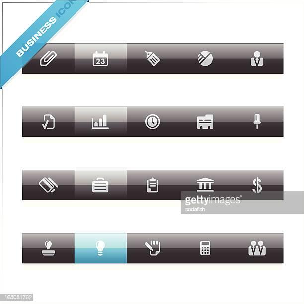 ilustraciones, imágenes clip art, dibujos animados e iconos de stock de iconos de negocios/azul etiqueta - tarjeta de archivo