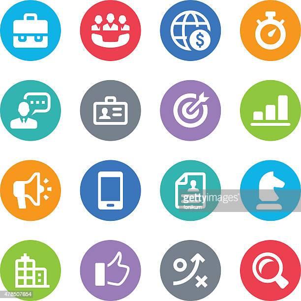 Business-Icons-Kreis Illustrationen