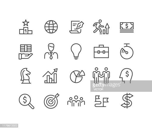 ビジネスアイコン - クラシックラインシリーズ - 商売場所 市場点のイラスト素材/クリップアート素材/マンガ素材/アイコン素材