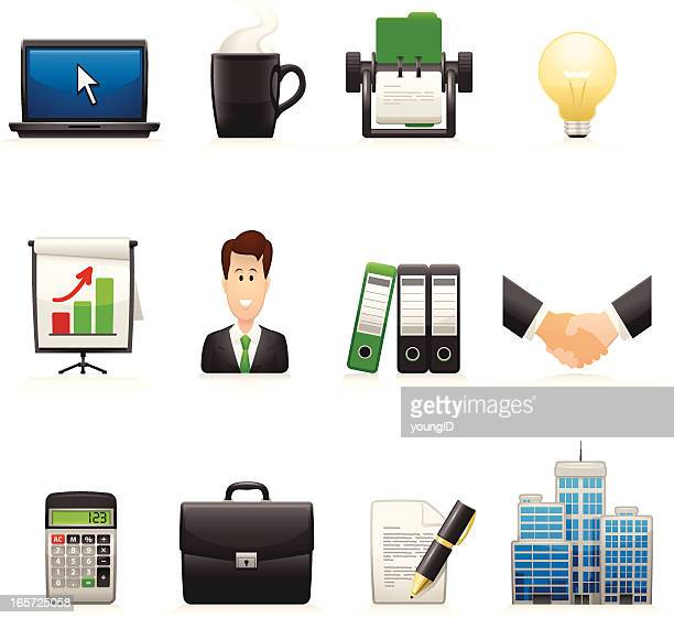business icons - curvy series - rolodex stock illustrations, clip art, cartoons, & icons