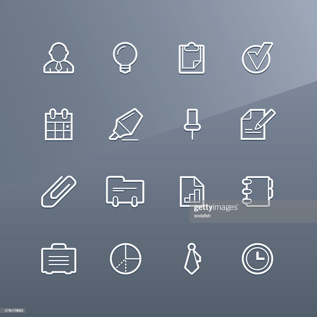 Business icons - Linea series : stock illustration