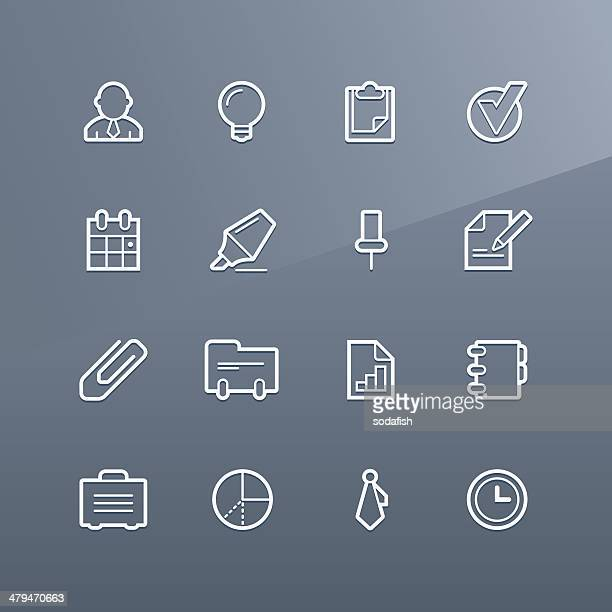 business icons - linea series - card file stock illustrations, clip art, cartoons, & icons