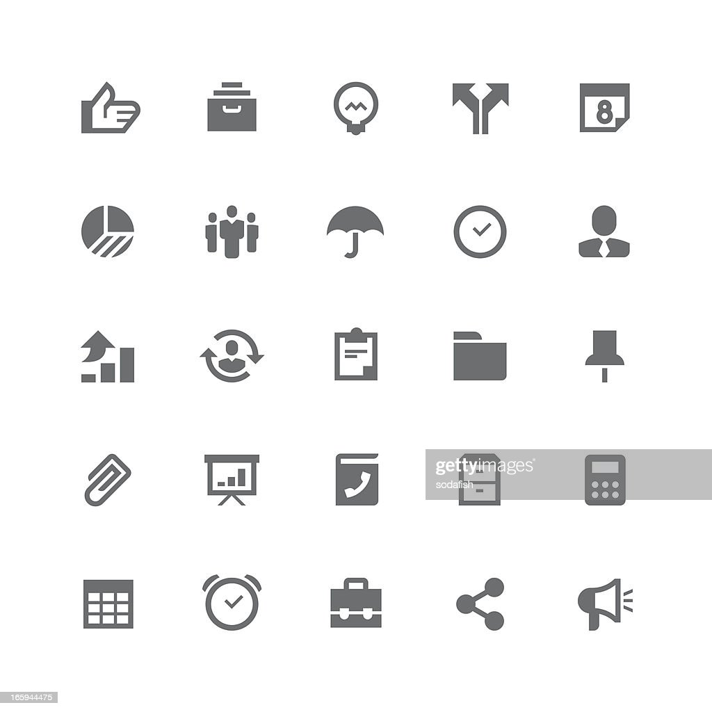 Business icons | retina series