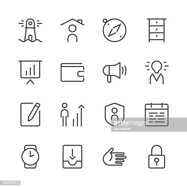 Business icons set 1 | Black Line series