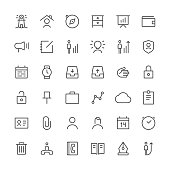 Business icons set 1 | Thin Line series