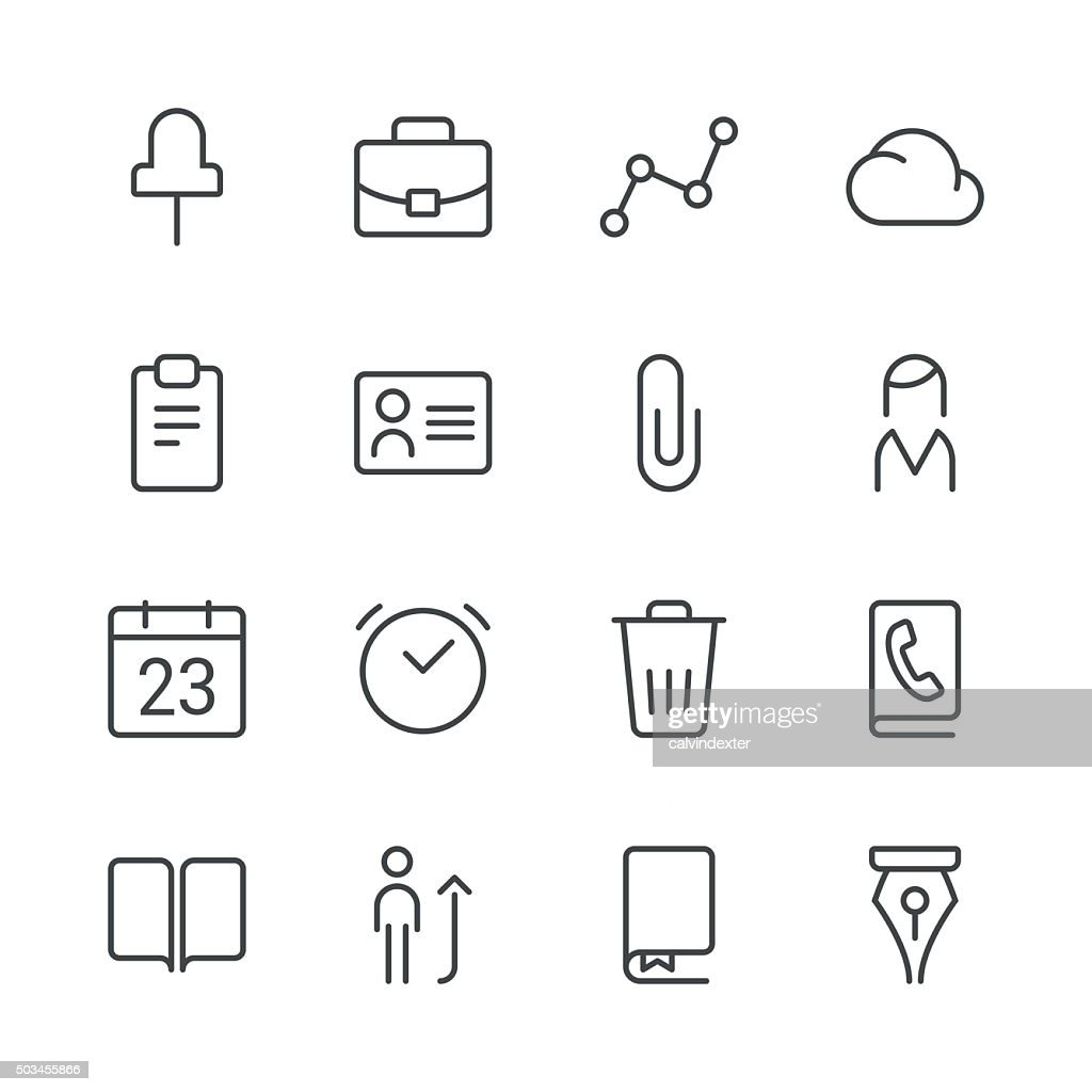 Business icons set 2 | Black Line series