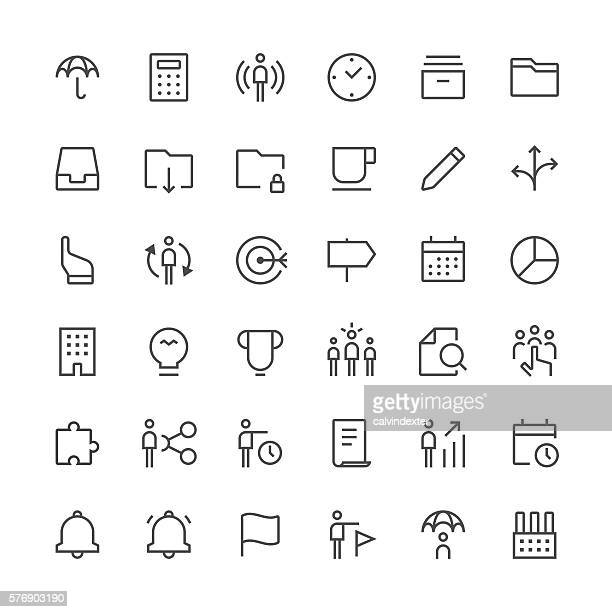 Business icons set 2 | Thin Line series