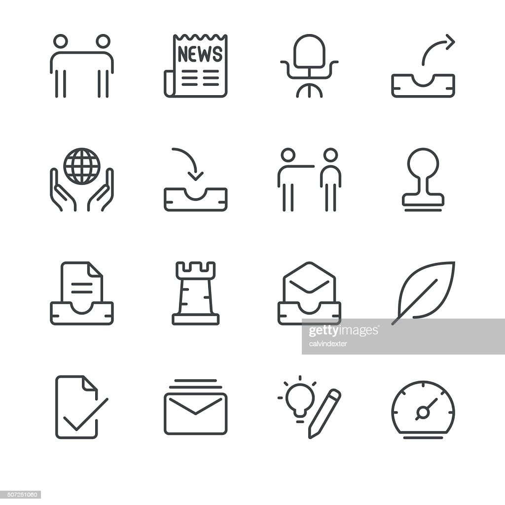 Business Icons set 5 | Black Line series