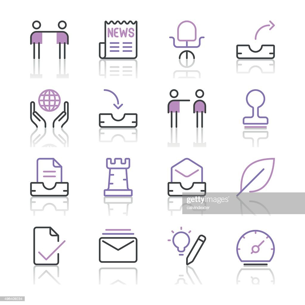 Business Icons set 5 | Purple Line series