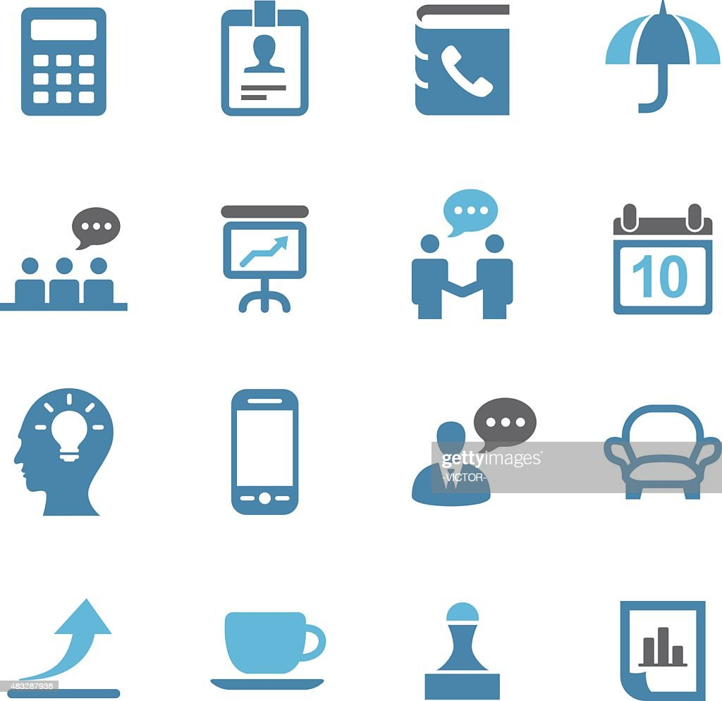 Business Icons Set - Conc Series