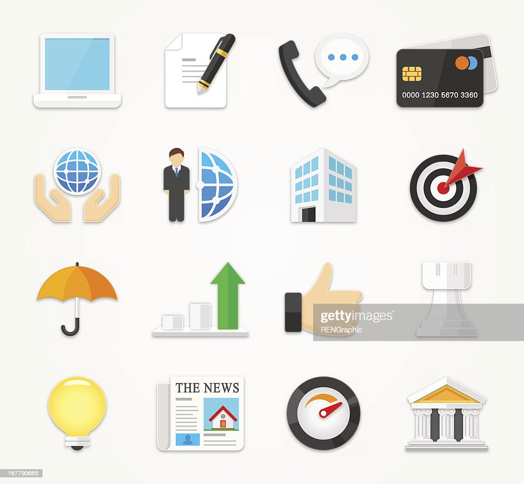 Business icons set | FLAT Series