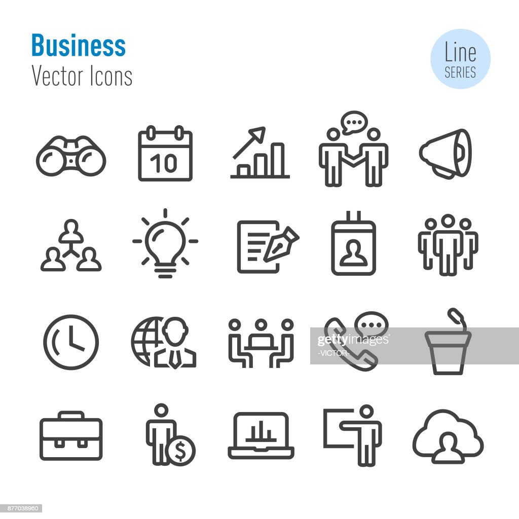 Business Icons Set - Vector Line Series : Stock Illustration