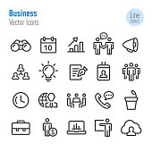 Business Icons Set - Vector Line Series
