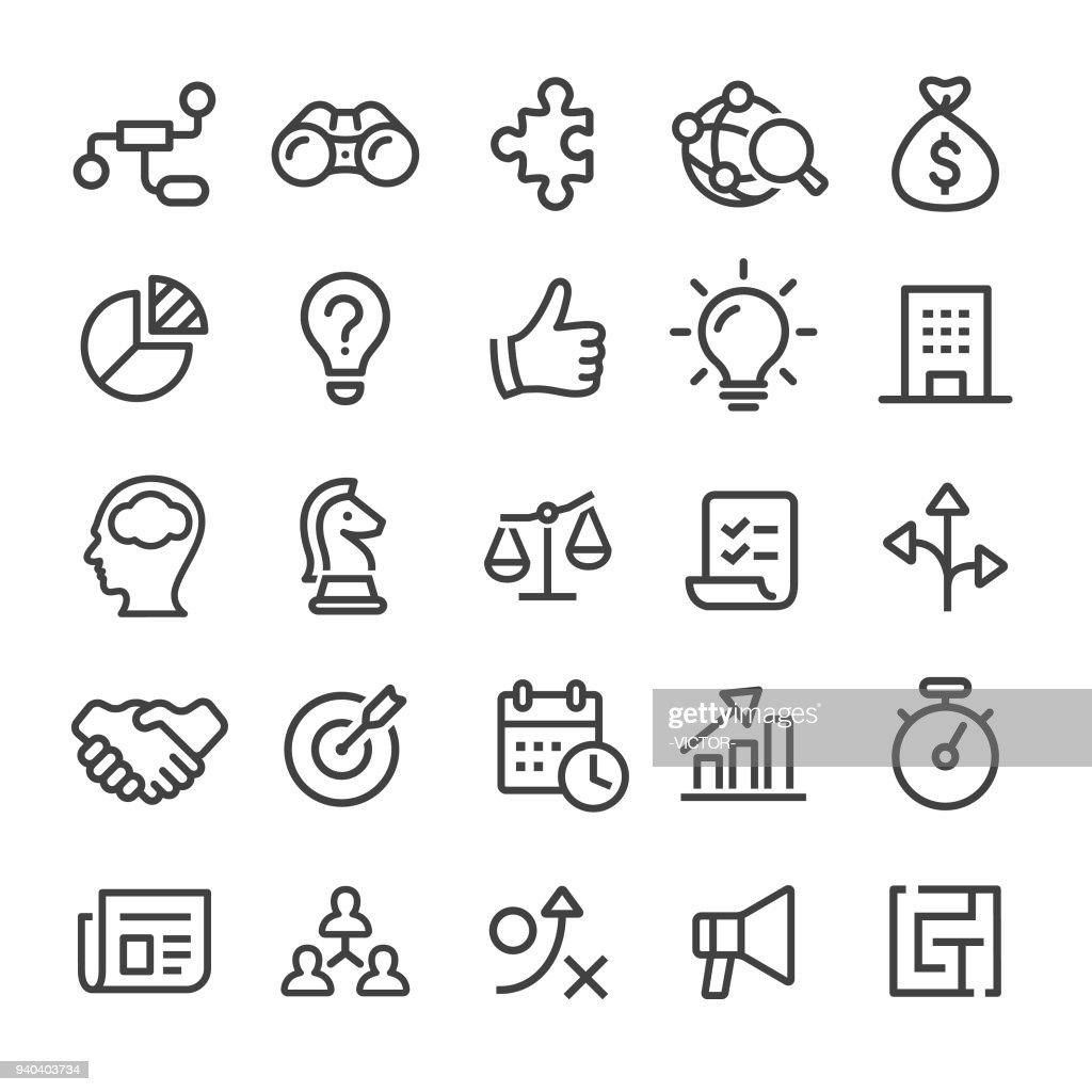 ビジネス アイコン - スマート ライン シリーズ : ストックイラストレーション