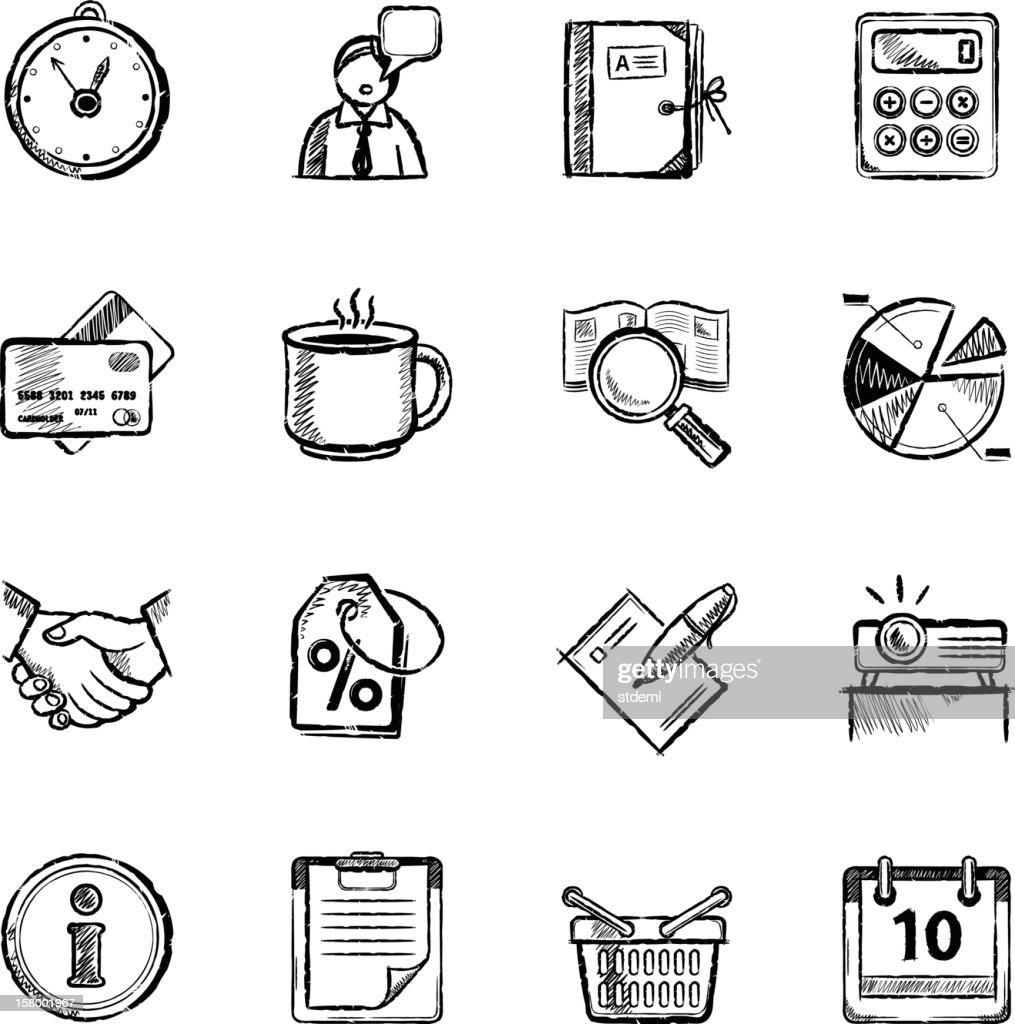 Ícones de negócios : Ilustração