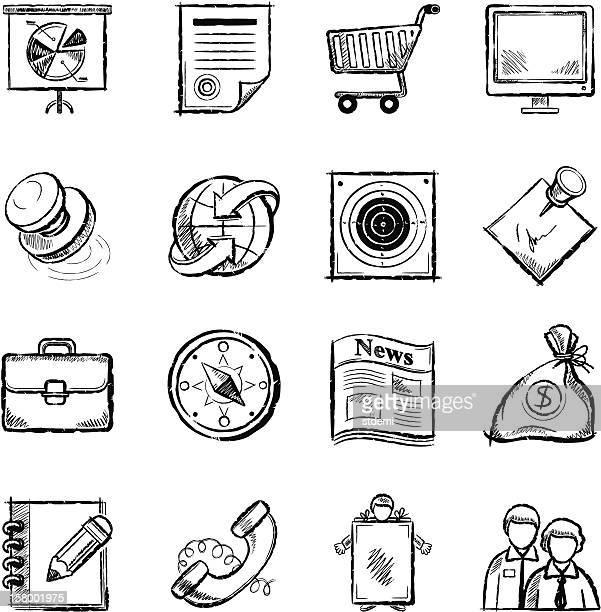 business icons - aktentasche stock-grafiken, -clipart, -cartoons und -symbole