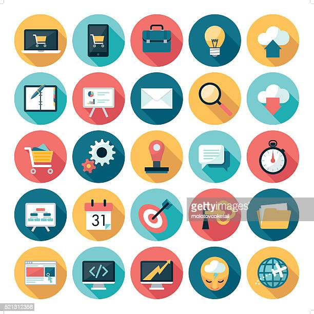 business icons - colors stock illustrations