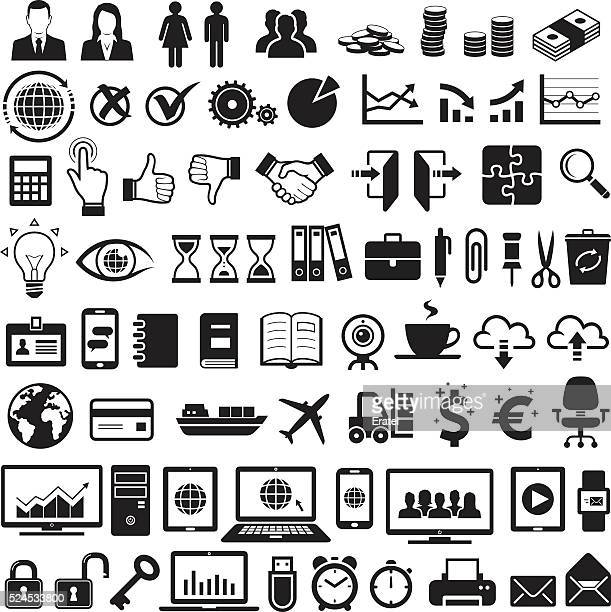 stockillustraties, clipart, cartoons en iconen met business icons - e mail