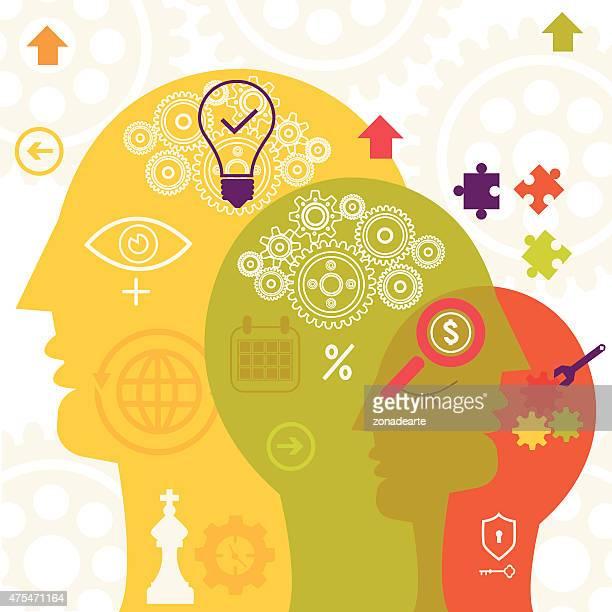 ビジネスのアイデア - 先頭点のイラスト素材/クリップアート素材/マンガ素材/アイコン素材