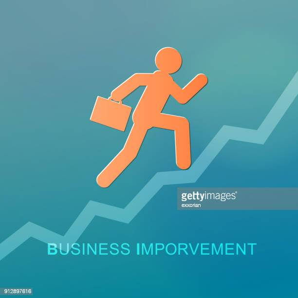 business improvement - struggle stock illustrations