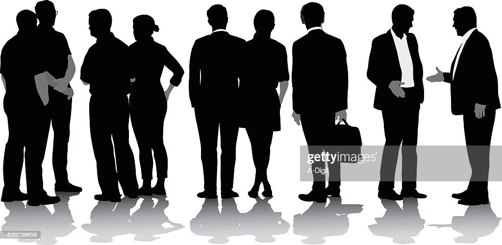 Business In The US Vector Silhouette : stock illustration