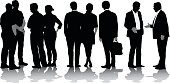 Business In The US Vector Silhouette