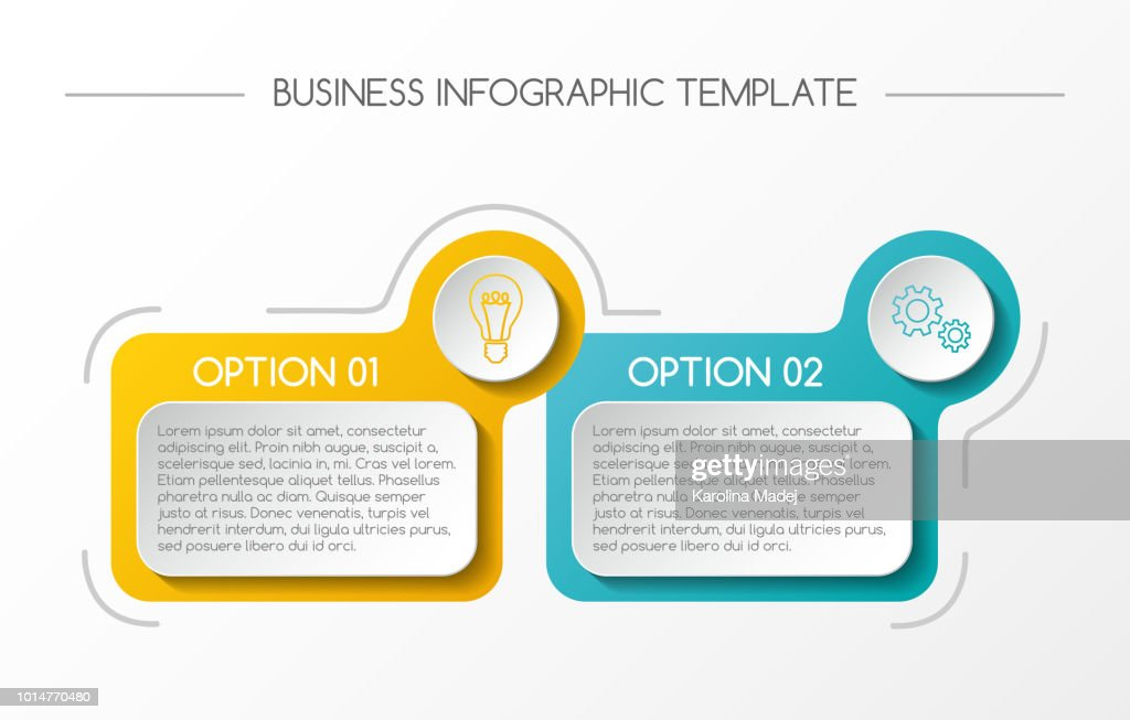 Business infograph with colorful boxes. Vector.