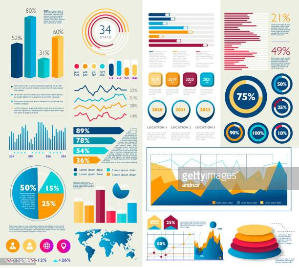 business infografik bunte designs - balkendiagramm stock-grafiken, -clipart, -cartoons und -symbole
