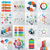 Business infographic template set.