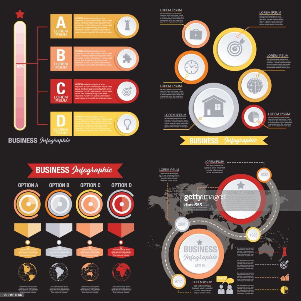 Business Infographic template With 3D Circles And Iocns : stock illustration