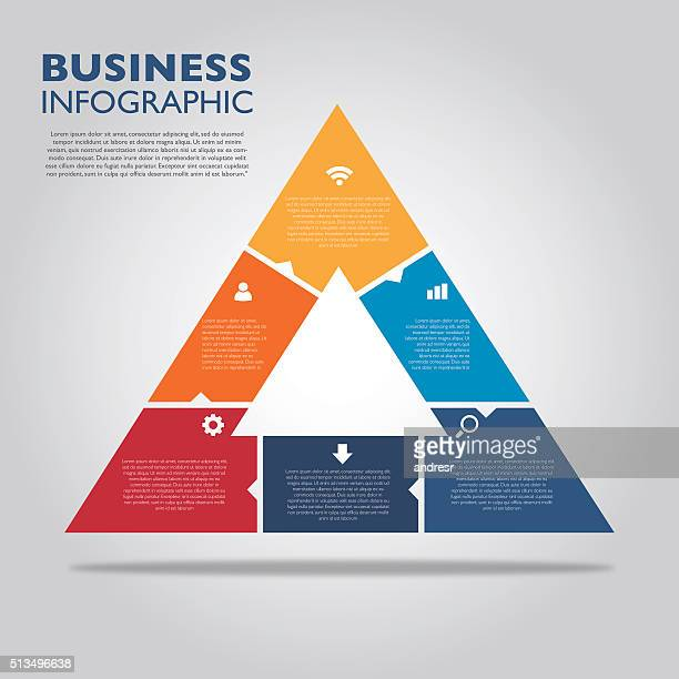 business infographic - pyramid stock illustrations