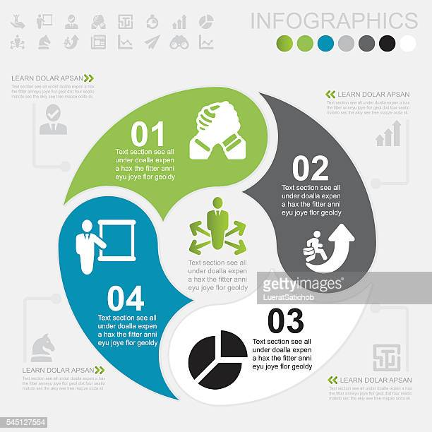 business infographics and icons | eps10 - diagram stock illustrations