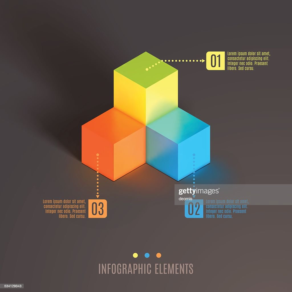 Business Infographics cube