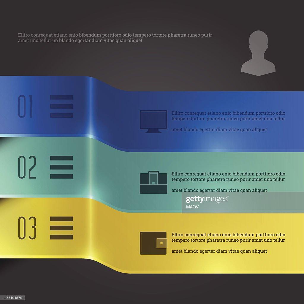 Business Infographics Design Template. Vector Elements. 3D Banners Diagram Illustration