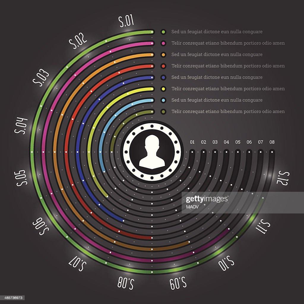 Business Infographics Design Template. Vector Elements. Source Pie Chart Illustration