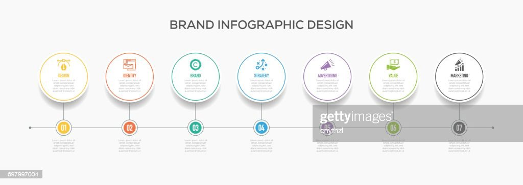Business Infographics Design with Icons.  Brand : stock illustration