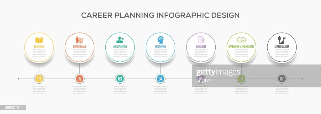 Business Infographics Design with Icons. Career Planning