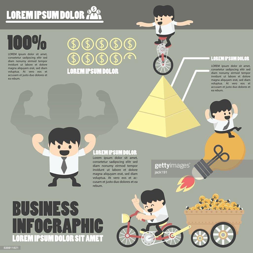 Infografías de negocios de éxito : Arte vectorial