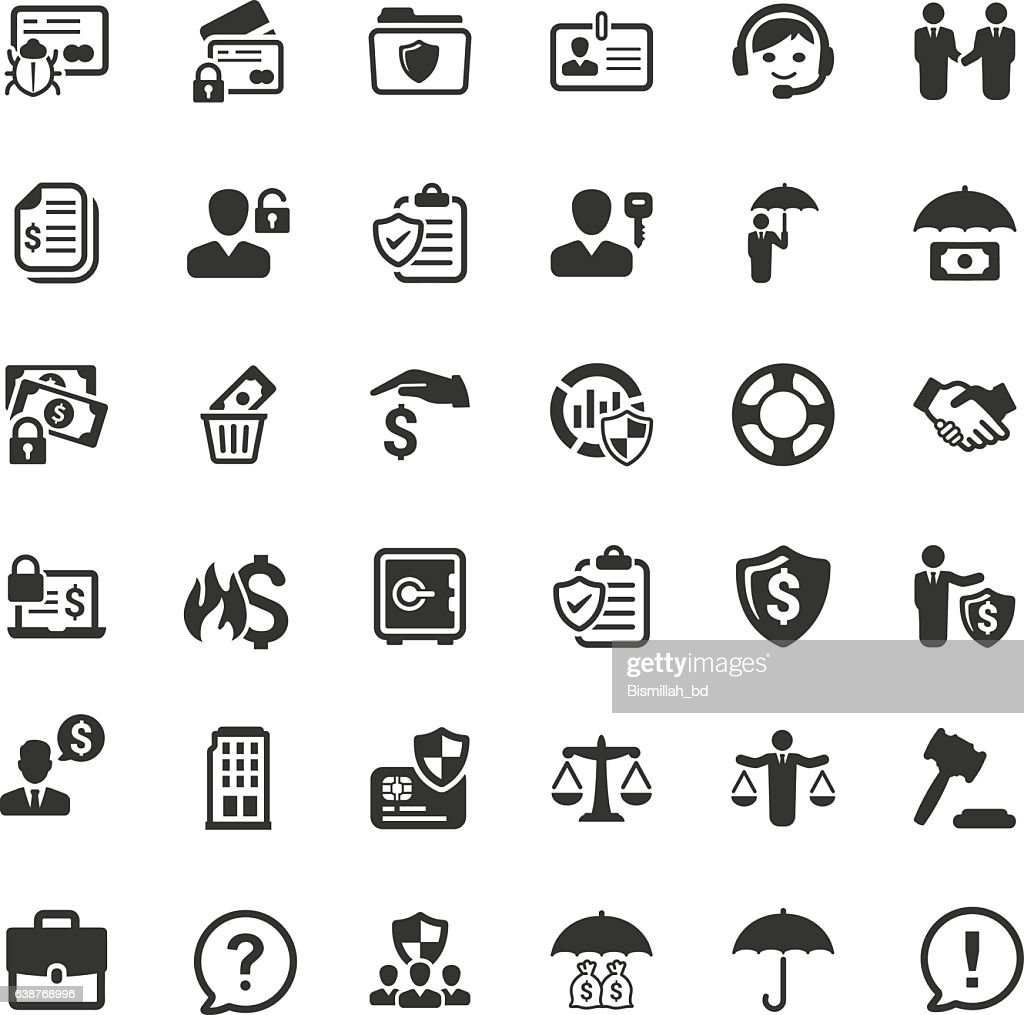 Business Insurance Icons - Gray Series