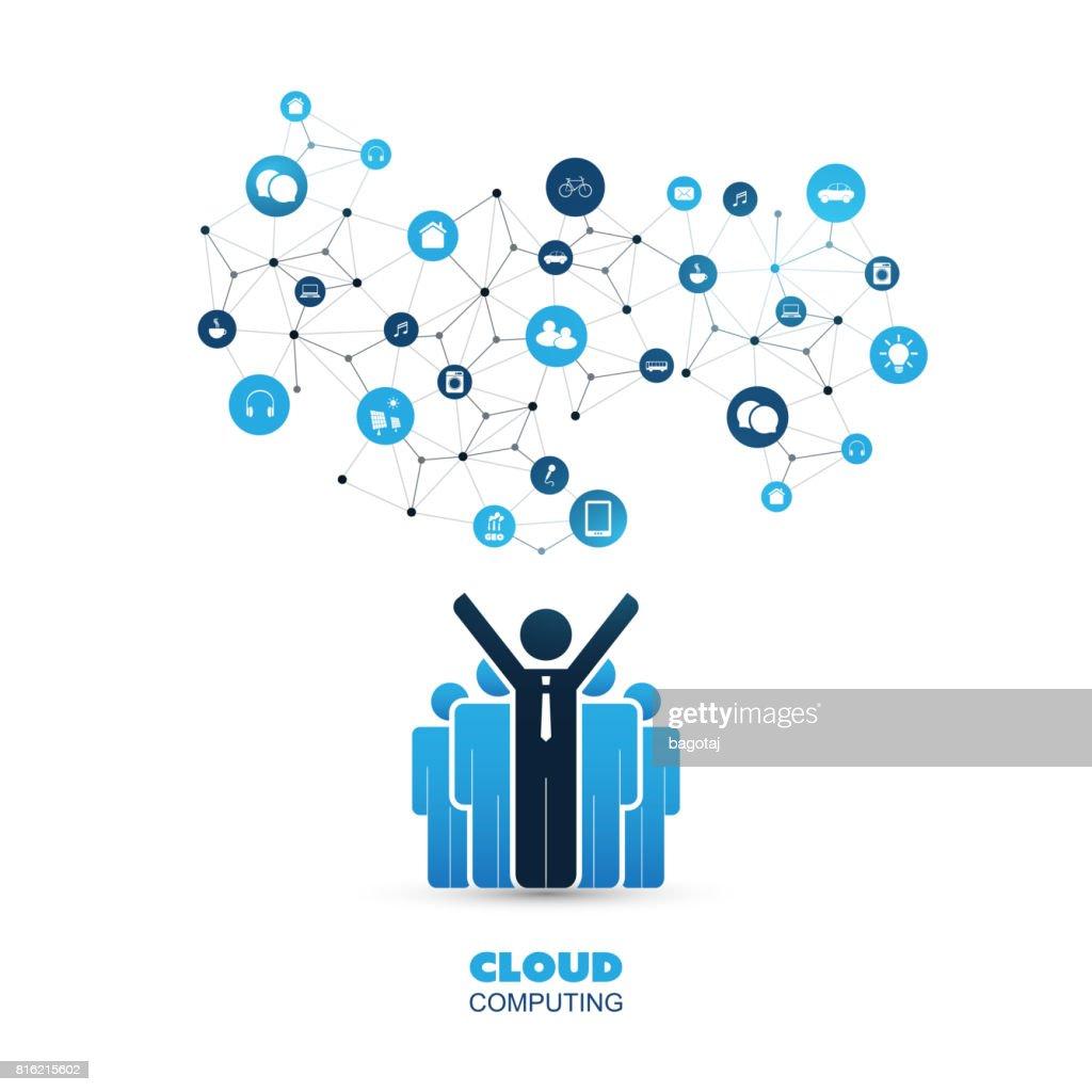 Business IT, Cloud Computing Design Concept