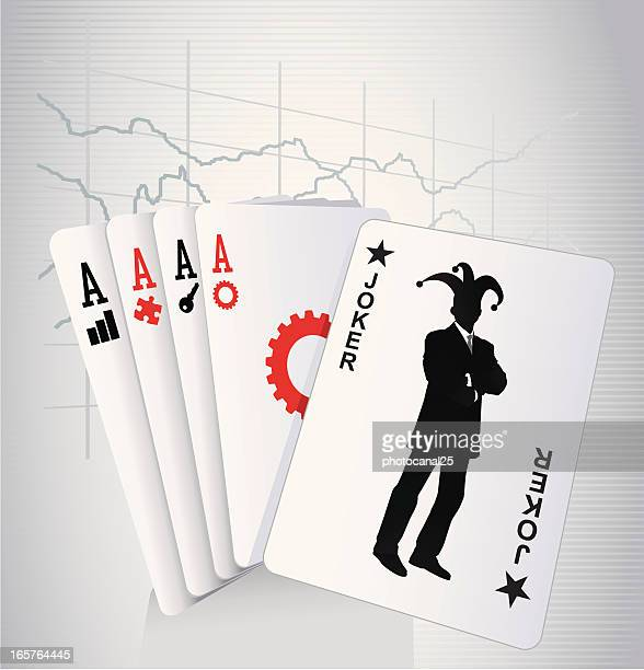 business joker - joker card stock illustrations, clip art, cartoons, & icons
