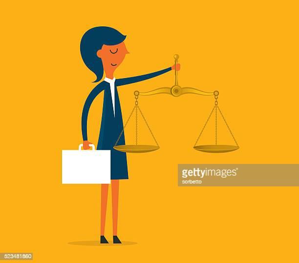 ビジネス正義計 - 法律関係の職業点のイラスト素材/クリップアート素材/マンガ素材/アイコン素材