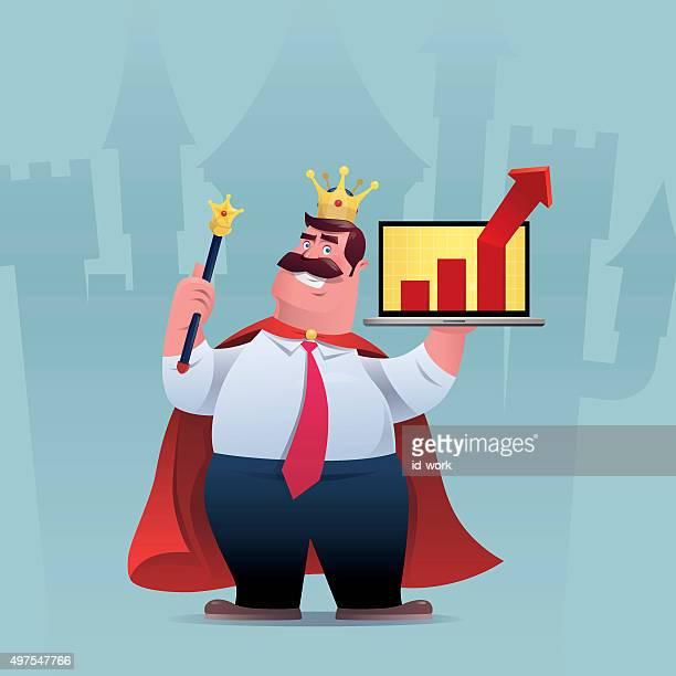 business king - king royal person stock illustrations, clip art, cartoons, & icons